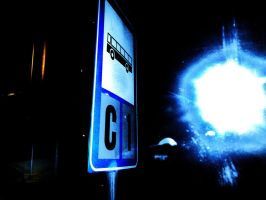 Bus sign and a Supernova 2 by il-Paciato