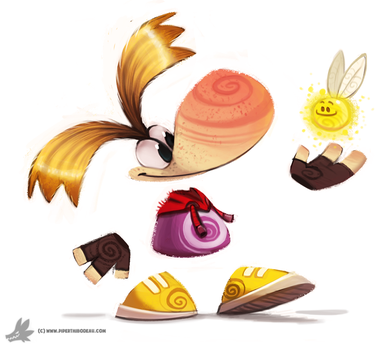 Day 824. Rayman by Cryptid-Creations