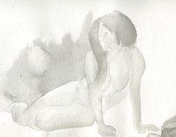 Ink Washed Woman by BoomersRoundTheBend