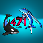 Orca and Lati Plane logo by Sabre471