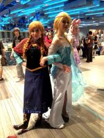 Anna and Elsa by FaithWalkers