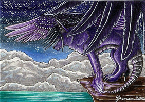 ACEO - When night takes wing by ShadeofShinon