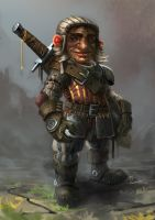Gnome mercenary by MarschelArts