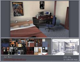 3D environment - Bedroom 2 by seriousx9