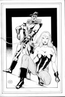 Black Canary+Green Arrow by MichaelBair