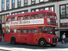 Routemaster Bus No. 324 on the Strand by rlkitterman