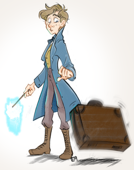 Fantastic Beasts and Where to Find Them: Newton by muminika
