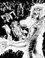 trombonist versus zombies commission by davechisholm