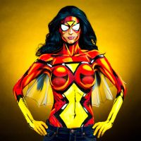 Spiderwoman Bodypaint by KayPikeFashion