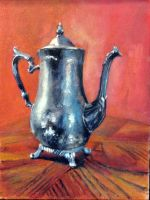 Tarnished Tin Teapot by JimmyDemello