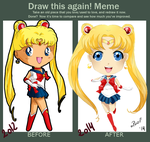 Draw this again- Sailor Moon by oPoof