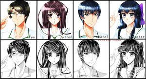 OCs for my upcoming manga by Fruitee-Chan
