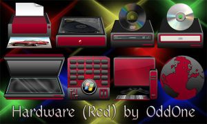 Hardware Red-Black Theme by 0dd0ne