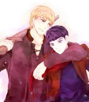 Arthur-Merlin by xx-RAINYDAY-xx