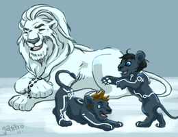 Tron Lion Family by gataro