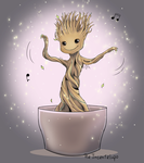Baby Groot Dancing by Ailill90