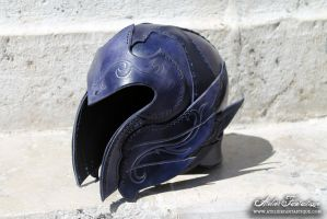 Elfic leather helmet by AtelierFantastique