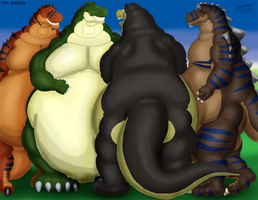 Four Fat Scalies by Borusa-Ryalam
