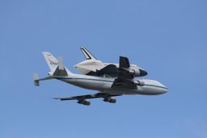 Enterprise fly over NYC 2012 by ShadeeWolf