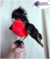 The Bullfinch Knytt - Posable Art Doll (SOLD) by Escaron