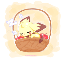 Pichu Commish by Citron-Ami