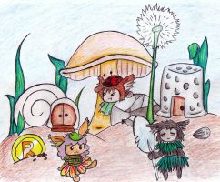 My Raposa town by JazzHands966