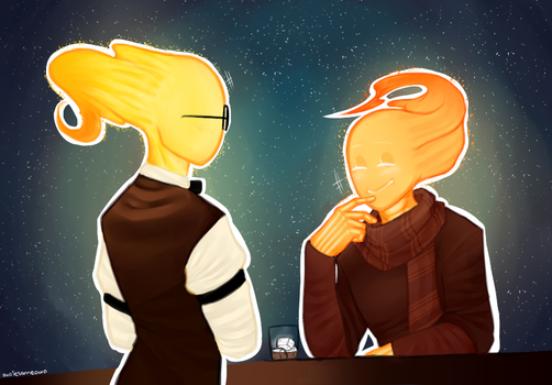 [Undertale] and [Companiontale] Grillby by owoSesameowo