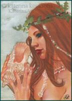 The Little Mermaid ACEO by Katerina-Art