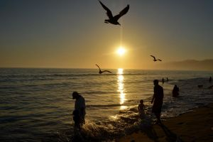 Sunset at Santa Monica 2012 by esee