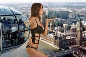 Monica Somma at the London Eye by Accasbel