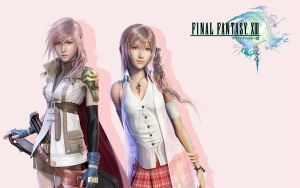 Lightning and Serah by s3k4REP