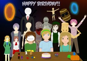 Happy Birthday PewDie :D by BiaC-PT