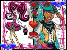monster high draculara and clawd by sarahthevampireteen