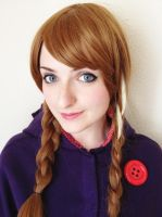 Anna Frozen (wig and make up) by Alinechan
