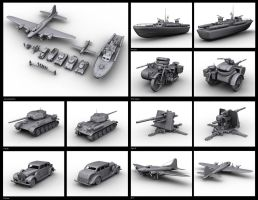 WW2 era vehicles by toneloperu
