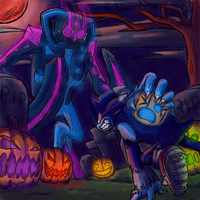 Sonic Unleashed: Blood Moon_Pumpkin Graveyard Boss by SuperBlade9000