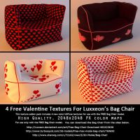 Free Valentine Texture Addon (For Bag Chair) by LuxXeon