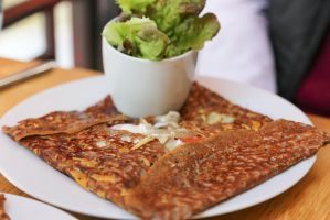 Galette with mushroom and cheese by patchow