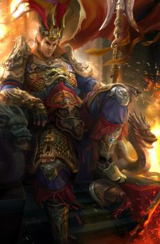Dynasty Warrior Fanart - Lu Bu by derrickSong