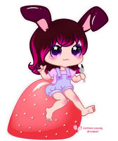 Bunny loves food - new version by cotton-candy-dreamer