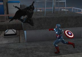 Justice League vs Avengers 2: Knight vs  Soldier by kevmann