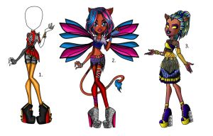 Monster high Adopts (OPENED) by Sandforest