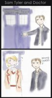 Sam Tyler and Doctor Who by damekkoDark