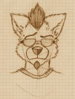 Wolf head sketch by wolf-lion