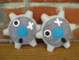 Klink Pokemon Plush by P-isfor-Plushes