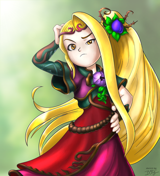 Viridi, Goddess of Nature - Kid Icarus Uprising by slash000