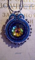 Crystal soutache pendant 2 by CohullenDruith