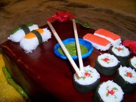 Sushi Cake by DarkMindsEye