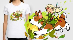 Corgi T-shirt / prints by sandara