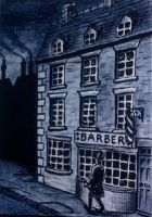 Sweeney todd's shop - ACEO by mikegee777